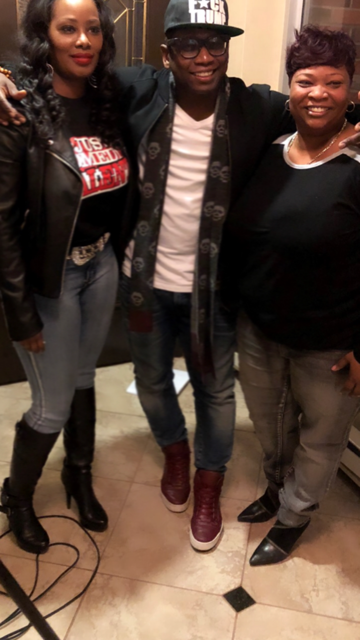 Guy Torry with Tunya Griffin and local comedienne Char Broome (aka Char B).